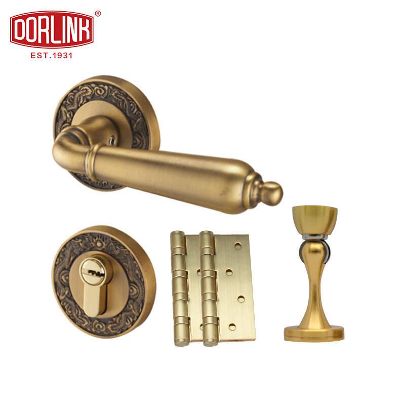 美国多灵 卧室室内房门锁 锌合金把手防盗锁芯锁具套装 德斯特 左内开
