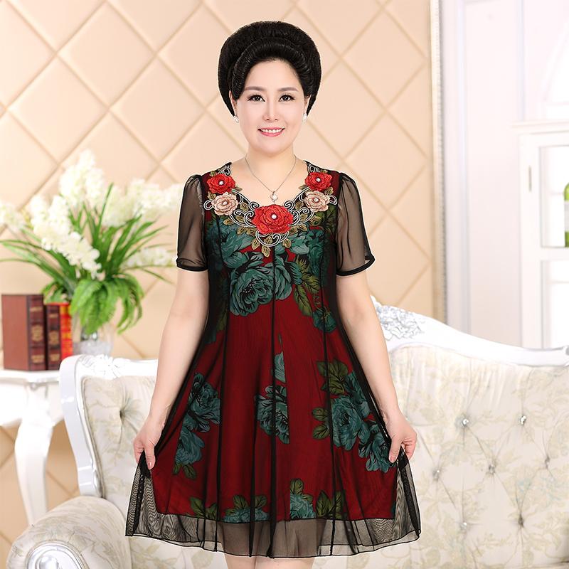 加大码女雪纺连衣裙