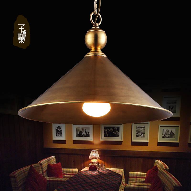 【子兰】欧式田园全铜餐桌单头餐吊灯light楼梯间吊灯图片