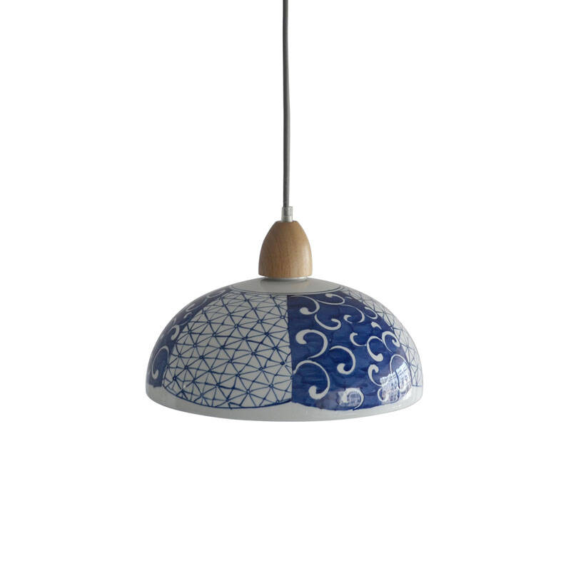 点馨 单头手绘陶瓷艺术吊灯个性创意北欧宜家现代新中式餐厅灯吧台