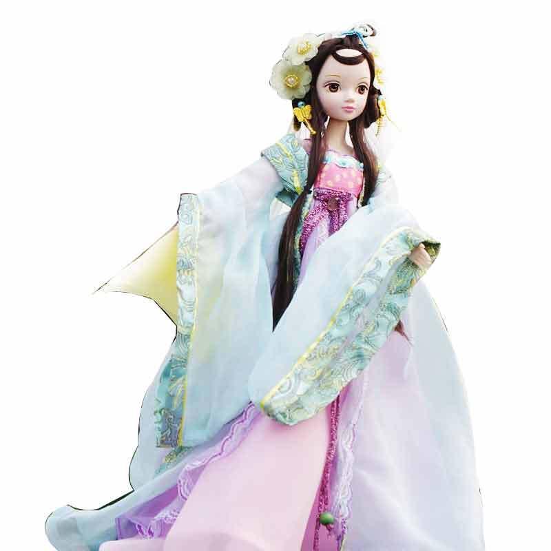 可儿娃娃 古装芭比娃娃系列文成公主9050 收藏款 小女孩玩具 洋娃娃