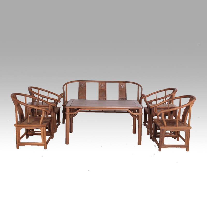 博古恒韵 实木会客沙发茶几 鸡翅木中式红木客厅家具