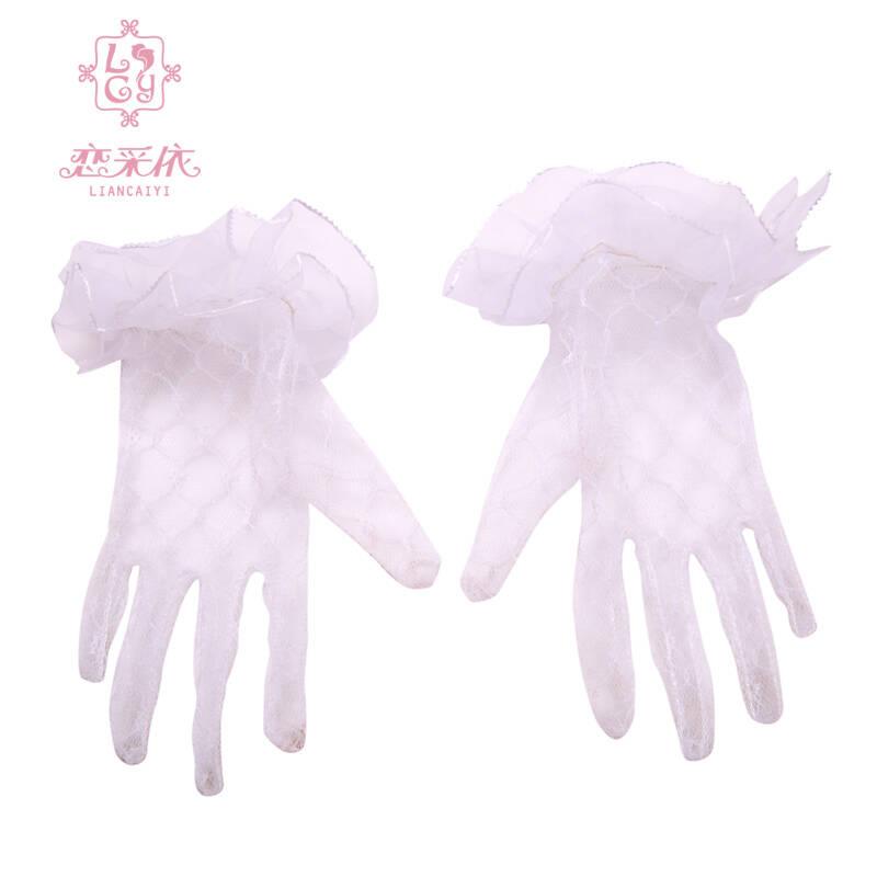 儿童婚纱礼服公主裙配饰手套可爱甜美表演
