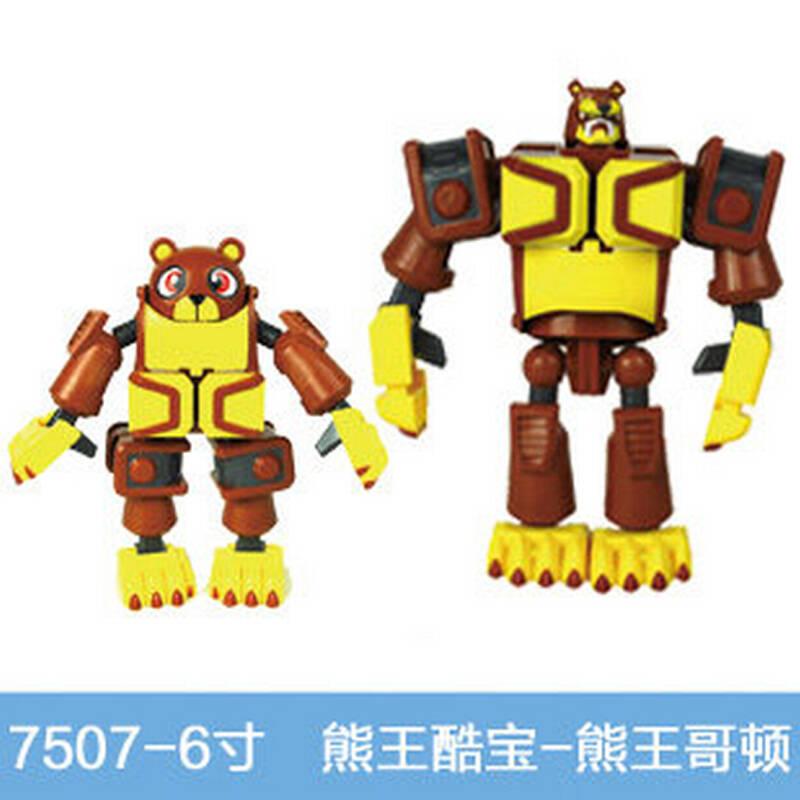 11c1 灵动创想正版快乐酷宝玩具全套蛙王战宝小宝变形合体儿童节礼物