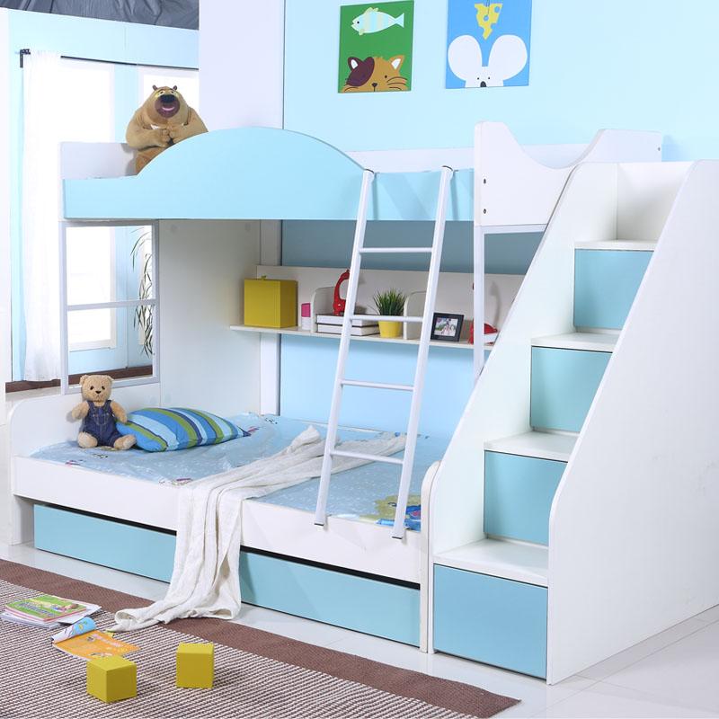 西楚家私家具床上床双层床木质床单子母下铺别墅床实木床儿童图纸抽怎么高低看高低图片