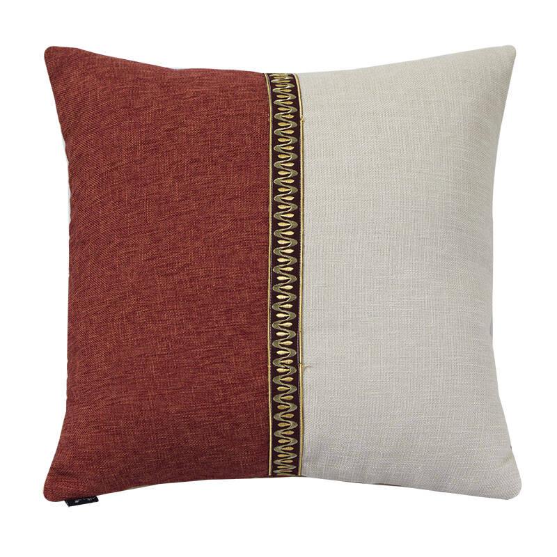 格蓝丽芙中式布艺沙发抱枕腰枕 床头靠枕靠垫 抱枕套图片