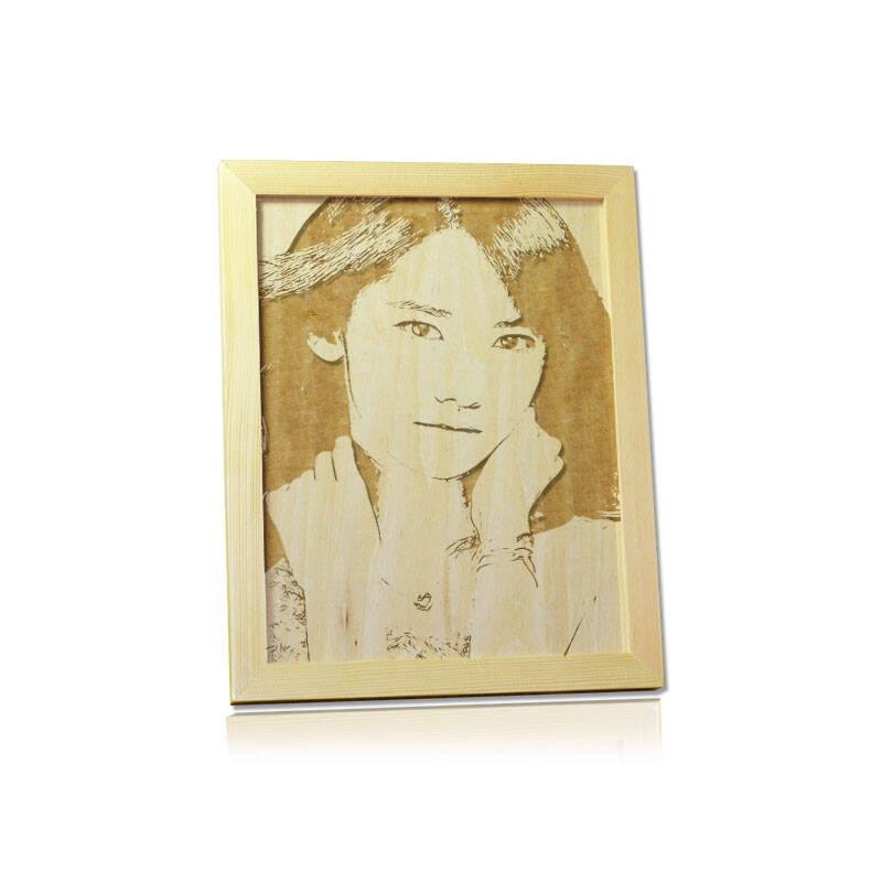 猜米 相框木板画雕刻照片生日礼物创意礼品送女生男朋友闺蜜老婆老公