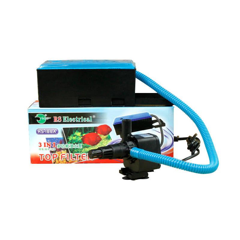 日胜 鱼缸过滤器潜水泵氧气泵多功能三合一 rs-288a-15w