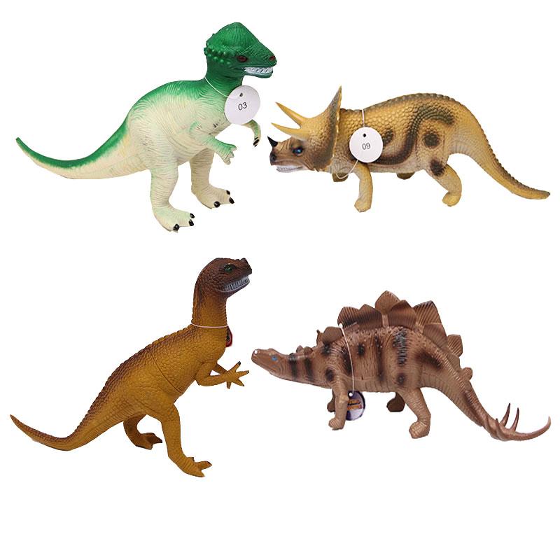 奥斯尼恐龙玩具仿真静态动物塑胶模型男孩玩偶 恐龙0028-1四只装