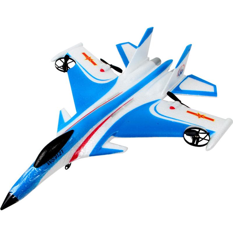 4g遥控滑翔飞机耐摔固定翼泡沫j15玩具战斗机航模 小型j15滑翔机蓝色