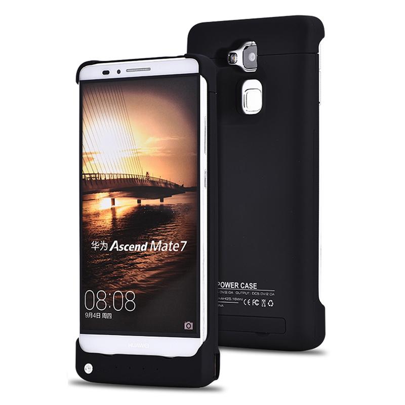 背夹电池充电宝 无线便携充电器移动电源 适用于华为mate7 炫酷黑图片
