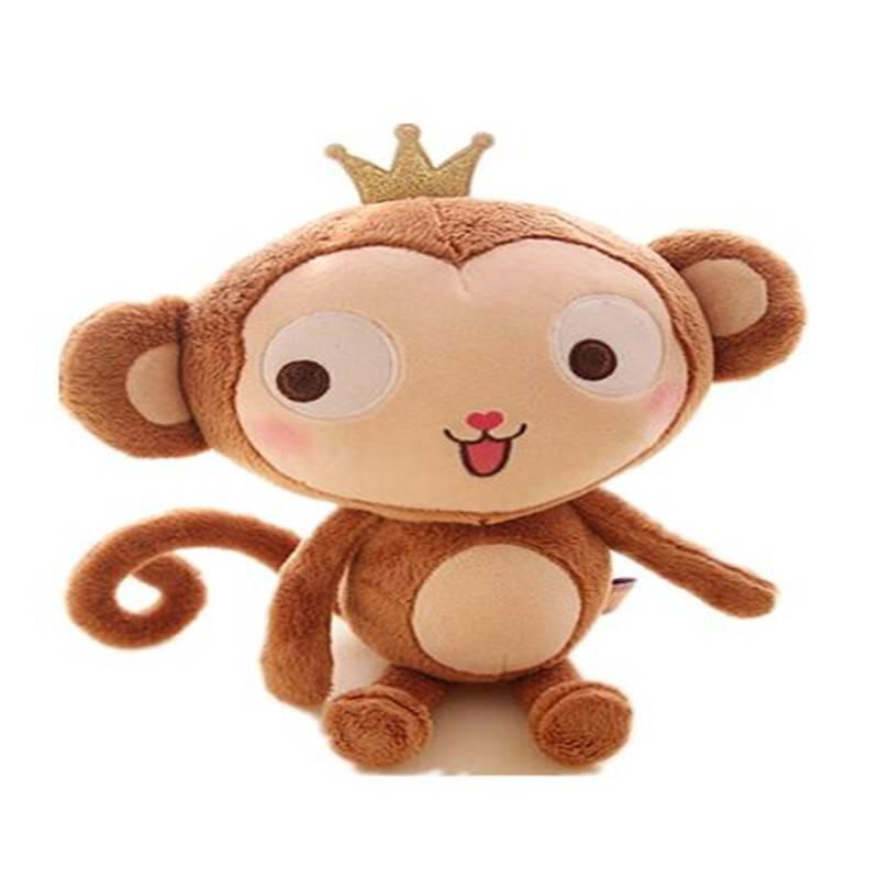 可爱长尾巴猴子毛绒公仔