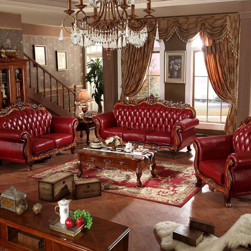 中派 欧式沙发美式法式沙发皮沙发 客厅家具欧式沙发 姹紫嫣红 1 2 3图片