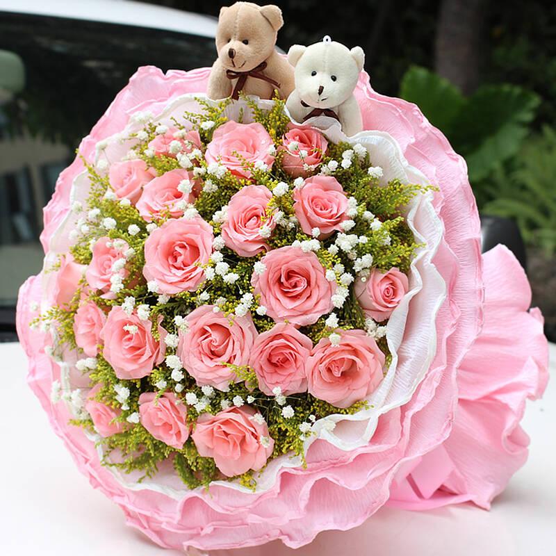 鲜花速递礼盒 生日鲜花 红玫瑰花束【最快2小时送达】图片