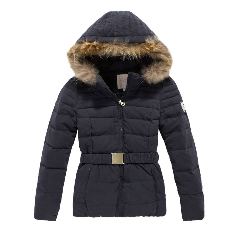 森马 女装女士冬装新款修身羽绒服拉链保暖羽绒服韩版图片