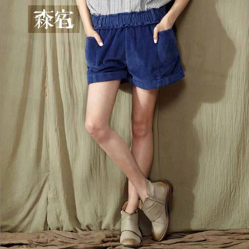 设计师品牌女装森宿 小默契 2014新款春装 灯芯绒复古图片