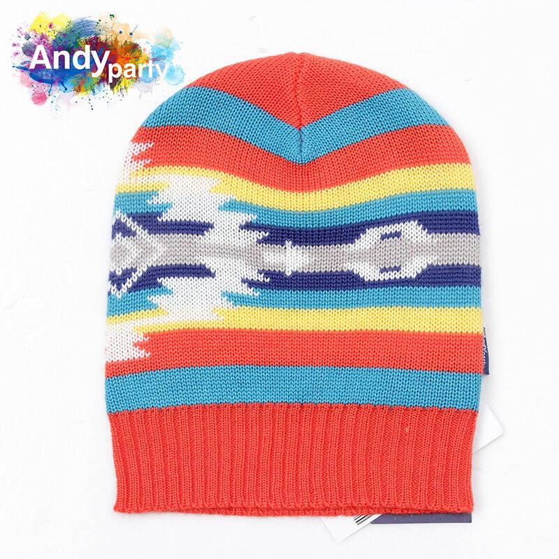 安迪派对 童装 儿童针织帽子 红色 10岁以上