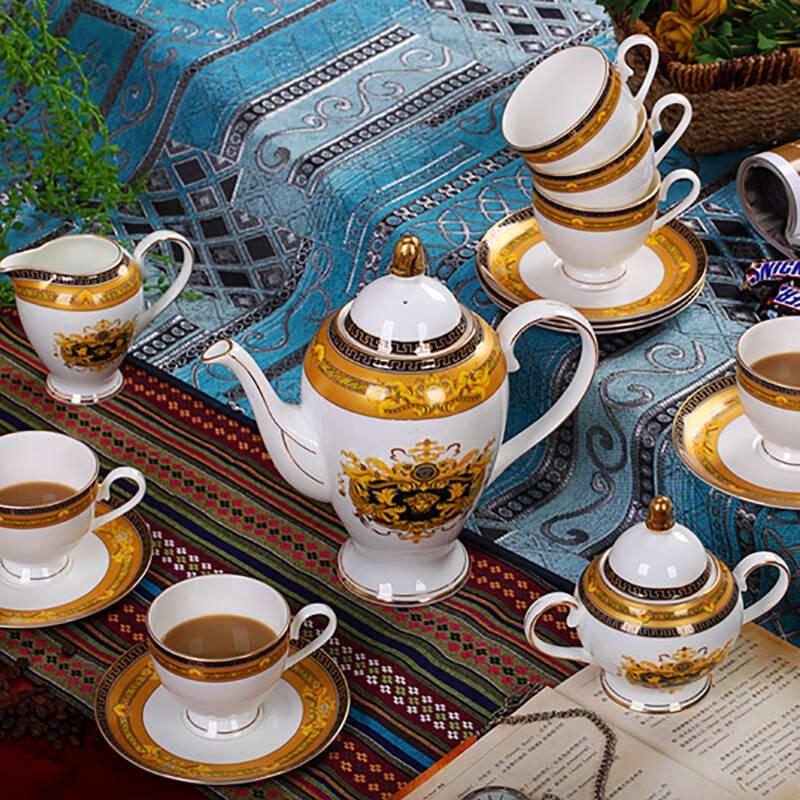 高档陶瓷骨瓷英式下午茶具套装欧式咖啡杯套装咖啡具