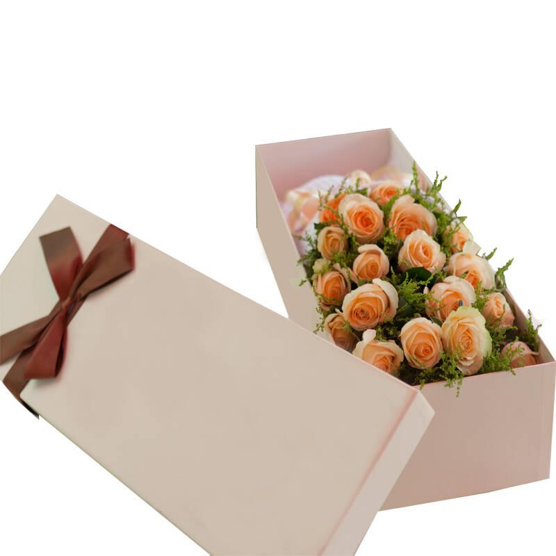 节玫瑰花盒19朵装