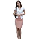 业装牛仔裤裙女装韩版酒店工作服套装应聘女生套裙正装图片