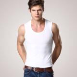 男士内衣 纯棉 运动健身 打底汗衫 紧身 宽肩坎
