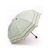 荷叶雨伞折叠伞遮阳伞太阳伞防紫外线黑胶防晒晴雨伞配件边薄荷依路达女士喷枪图片