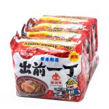 【京东超市】香港进口出前一丁(nissin)方便面香辣麻油味100g*5袋盘锦sbs添加剂图片