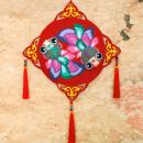 布艺新年挂饰 手工制作儿童不织布立体贴画粘贴画幼儿图片