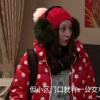 北京青年姚笛唐娇明星同款红色圆波点立领短女羽绒服图片