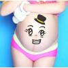 孕妇拍大肚皮照孕妇照贴纸影楼孕妇写真肚皮贴纸肚子贴纸伤心表情 149图片