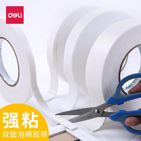 得力(deli)双面泡沫胶带 强力泡沫海绵胶 厚型双面胶条 30416(36mmx4.5米)1卷装