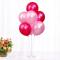 思泽 结婚庆装饰气球桌飘支架透明拖杆树支架子生日派对布置立柱 zg玫红、粉(透明桌飘)