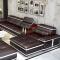 【3免1】中派  沙发真皮沙发客厅组合皮艺沙发 颜色备注 双人+贵妃