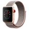 Apple Watch Series 3智能手表(GPS+蜂窝网络款 38毫米 金色铝金属表壳 粉砂色回环式运动表带 MQQK2CH/A)