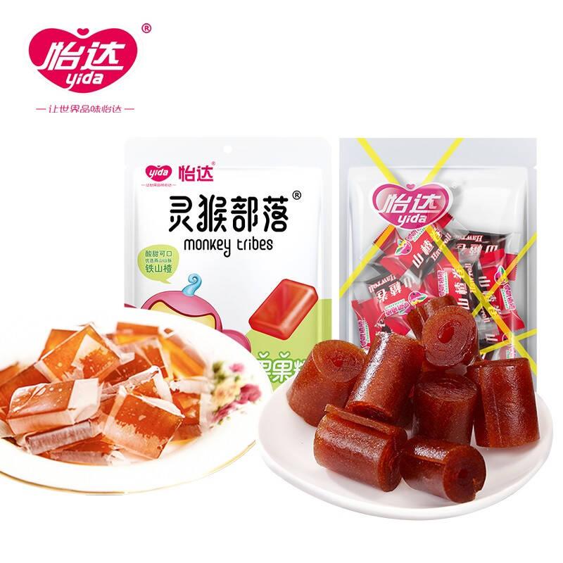 怡达 山楂零食组合装498g(果果糕248g+山楂卷250g)京东优惠券折后¥15.9包邮