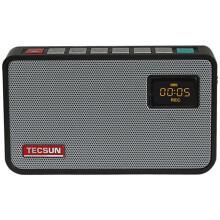德生(Tecsun)ICR-100 广播录音机/数码音频播放器 插卡收音机 小音箱(黑色)