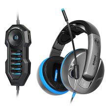 硕美科(SOMIC)G989HD 头戴式电脑耳麦 物理7.1游戏耳机 黑灰色