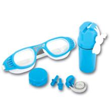 Bestway儿童游泳用品套装(游泳镜+鼻夹+耳塞+防水储物盒、适合7-14岁青少年使用)26002蓝色