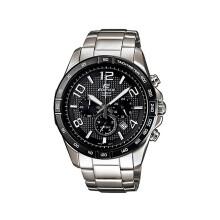 卡西欧(CASIO)手表  时尚男表三眼计时钢带 正品防水运动男表 黑盘钢带EFR-516D-1A7