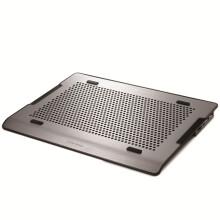 酷冷至尊(CoolerMaster) A200 笔记本散热器 (双14CM风扇/纯铝金属拉丝面板/双USB) 银色