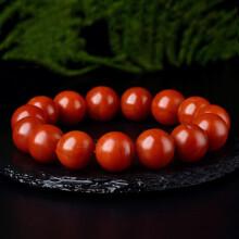 欧采妮 南红手串 玛瑙手链单圈佛珠柿子红满肉云南保山料男女款 9mm N71121-2