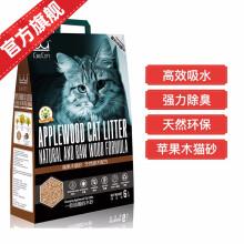 顽皮wanpy猫砂强力除臭吸水苹果木猫沙低尘成猫幼猫天然环保猫砂6L 苹果木原木