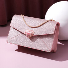 欧时纳(JUST STAR)包包女时尚单肩包斜挎包链条百搭小方包潮 418甜蜜粉