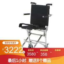 日本中进NAH-207可登机轮椅折叠老人轻便航钛铝合金老年人代步车超轻飞机高铁旅行小轮旅游手推车便携 高雅黑 36厘米坐宽