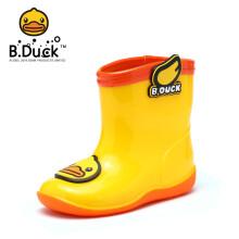 小黄鸭(B.Duck)童鞋儿童雨鞋 男女童防滑软底防水雨靴潮 BP100A9903黄色30