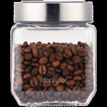 乐扣乐扣(LOCK&LOCK)玻璃储物罐 密封防潮储物瓶 零食杂粮收纳储物容器 LLG800 500ml