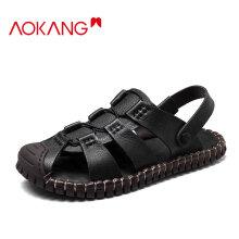 奥康(Aokang)男鞋低帮舒适系带户外工装鞋舒适日常运动潮流男单鞋103726015黑色40码