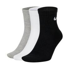 耐克NIKE 男子 中袜 训练 袜子 三双装 EVERYDAY LTWT ANKLE  运动袜 SX7677-100白色S码 EVERYDAY LTWT ANKLE 3PR-多色