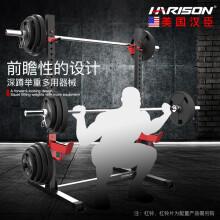 美国汉臣HARISON举重床 多功能仰卧板哑铃凳 深蹲架 家用腹肌板 健腹板 健身器材 HR-30811