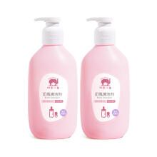 京东超市红色小象 奶瓶清洗剂 奶渍清洁 餐具清洁液 果蔬清洗液 奶瓶清洁剂400ml*2